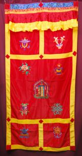 8Aus.Symbols & Kalachakra Door Curtain