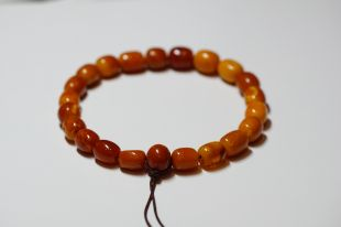 Antique Amber Mala Oval